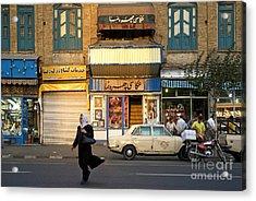 Street Scene In Teheran Iran Acrylic Print