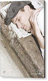 Street Sleeper Acrylic Print by Jorgo Photography - Wall Art Gallery