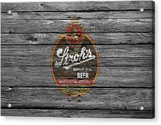 Strohs Beer Acrylic Print by Joe Hamilton