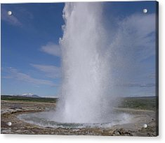 Acrylic Print featuring the photograph Strokkur by Christian Zesewitz