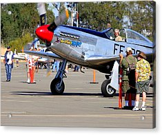Stu Eberhardt And His P51d Merlin's Magic  Acrylic Print by John King