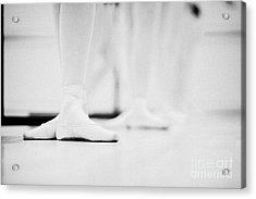 Students With Feet In The Third Position At A Ballet School In The Uk Acrylic Print