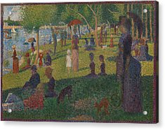 Study For A Sunday On La Grande Jatte Acrylic Print by Georges Seurat