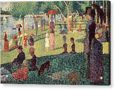 Study On La Grande Jatte Acrylic Print by Georges Seurat