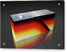 Subduction Zone Acrylic Print by Peter Matulavich