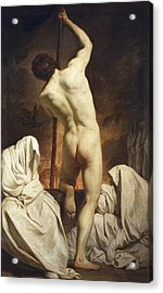 Subleyras, Pierre 1699-1749. Charon Acrylic Print by Everett