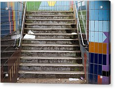 Subway Stairs Acrylic Print by Fizzy Image
