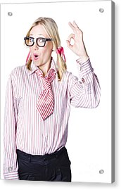 Successful Businesswoman Acrylic Print by Jorgo Photography - Wall Art Gallery