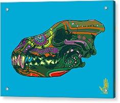 Acrylic Print featuring the digital art Sugar Wolf by Nelson Dedos Garcia