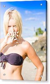 Summer Beach Babe Acrylic Print by Jorgo Photography - Wall Art Gallery
