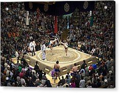Sumo Summer Tournament 2014 Tokyo Acrylic Print by For Ninety One Days