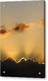 Sun Rays And Dark Clouds Acrylic Print