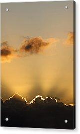 Sun Rays And Dark Clouds Acrylic Print