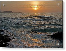 Sunrise At Portscatho Acrylic Print by Pete Hemington