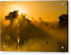 Sunrise At The Sepulveda Dam Wildlife Reserve Acrylic Print