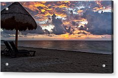 Sunrise In Cancun Mexico Acrylic Print