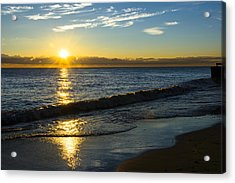 Sunrise Lake Michigan September 14th 2013 040 Acrylic Print
