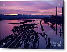 Sunrise Lumber Mill Acrylic Print