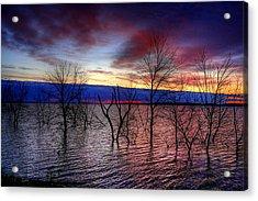 Sunrise On Devils Lake Acrylic Print by Larry Trupp