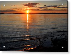 Sunrise On Grand Traverse Bay Acrylic Print