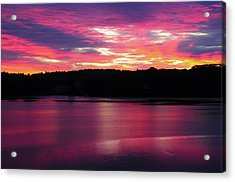 Sunrise On The New Meadows River Acrylic Print by Michel Hersen