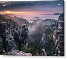 Sunrise On The Rocks Acrylic Print by Andreas Wonisch