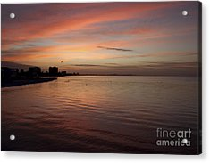 Acrylic Print featuring the photograph Sunrise Over Fort Myers Beach Photo by Meg Rousher