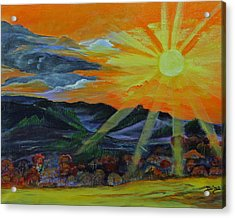 Sunrise Over The Mountains Acrylic Print by Dina Jacobs