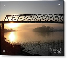 Sunrise Over The Ohio Acrylic Print