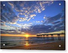 Sunrise Surfers Acrylic Print