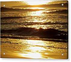 Sunrise Waves Acrylic Print