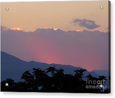 Acrylic Print featuring the photograph Sunset 2 by Ze  Di