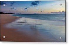Sunset Above Papohaku Beach On Molokais Acrylic Print