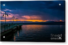 Sunset After A Passing Thundershower. Acrylic Print