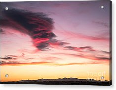Sunset And Clouds Acrylic Print by Stefano Piccini