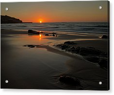 Sunset At Sennen Acrylic Print