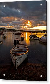 Sunset At Teignmouth Acrylic Print