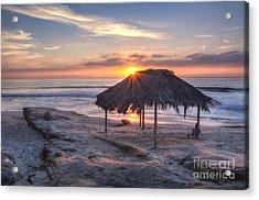 Sunset At Windansea Beach Acrylic Print