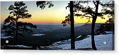 Acrylic Print featuring the photograph Sunset Atop Snowy Mt. Nebo by Jason Politte