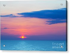 Sunset By The Sea Acrylic Print by Michal Bednarek