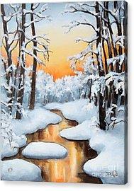 Sunset Creek Acrylic Print