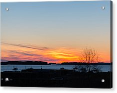 Sunset Down East Maine  Acrylic Print
