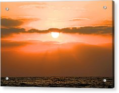 Sunset Acrylic Print by Gregor  Gatti