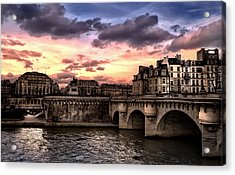 Sunset In Paris Acrylic Print