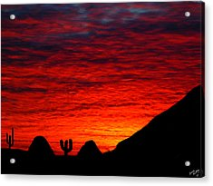 Sunset In The Desert Acrylic Print