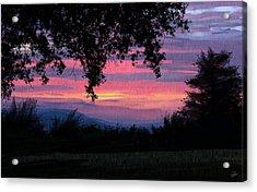 Sunset Acrylic Print by Kate Black