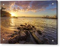Sunset Light Acrylic Print by Debra and Dave Vanderlaan