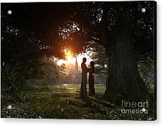 Sunset Lovers Acrylic Print by Dominic Davison