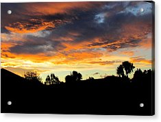 Sunset New Zealand  Acrylic Print by Joyce Woodhouse