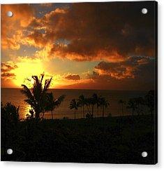 Sunset On Maui Acrylic Print